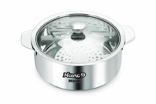 Nanonine Stainless Steel innovative kitchenware roti saver, 2.35 Litres