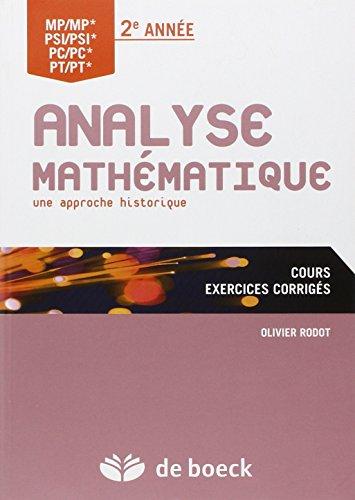 Analyse mathématique : Une approche historique