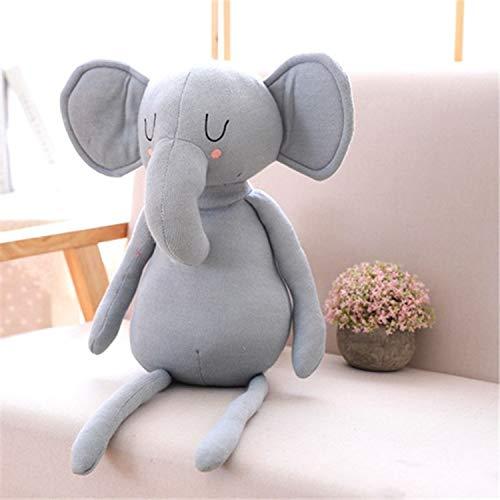 WDDqzf Dekoration Nordic Ins Niedlichen Baby Elefanten Puppe Wolle Stricken Puppe Baby Kinder Zimmer Dekoration Foto Requisiten Ornamente, Grauer Elefant (Strickpuppe), Andere Größen - Grauer Elefant Baby Dekorationen