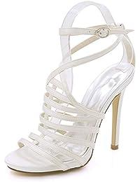 28c8c927fee4b7 L YC Frauen Open Toe High Heel Schnalle Sandalen 3-8 Court Schuhe Sommer  Party Brautjungfer Multi-Color…