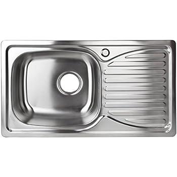 Spülbecken edelstahl  Spüle EDELSTAHL Einbauspüle Spülbecken Küchenspüle: Amazon.de ...