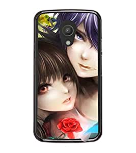 Printvisa Two Girls In A Potrait Back Case Cover for Motorola Moto G2 X1068::Motorola Moto G (2nd Gen)
