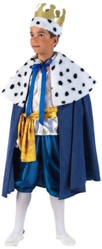 Kind Kostüm Melchior - Limit Sport Mascarada MI730 Gr.5 - König Melchior Kostüm, Größe 5, blau/weiß/gold