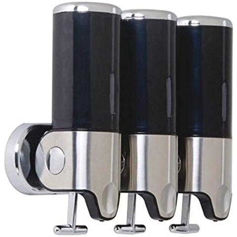 OOFAY YSPJ ® Tres color acero inoxidable acero jabón dispensador líquido jabón dispensador emulsión , black , 500ml*3