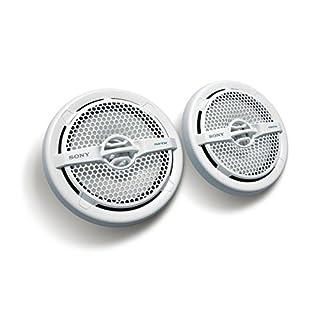 Sony XS-MP1611 Seetaugliche 16 cm (6,5 Zoll) Dual-Konus-Lautsprecher (140W, resistent gegen Wasser, UV-Strahlen, Salz) weiß