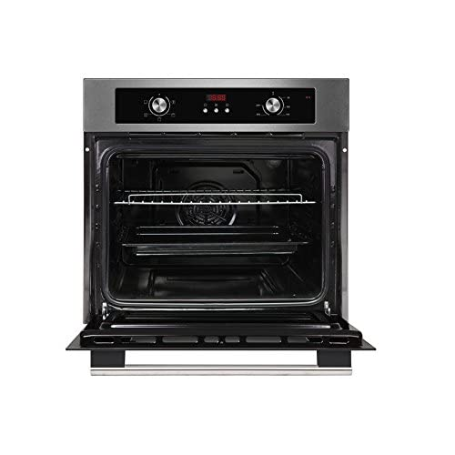 41qYDtiyxCL. SS500  - Cookology Built-in Electric Single Fan Oven in Stainless Steel with Programmable Timer & Digital Clock | COF605SS