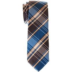 Retreez de estilos retro tela escocesa Tejido microfibra Skinny Tie–varios colores