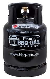 BBQ Gas Flasche 8 kg - UN1965 - schwarz, Variante:Gefüllt