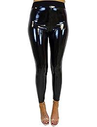 Leggins de Fitness elásticos Mujer Mallas largas de Cuero Brillante  Pantalones Deportivos para Mujer por Venmo f40b012d5c13