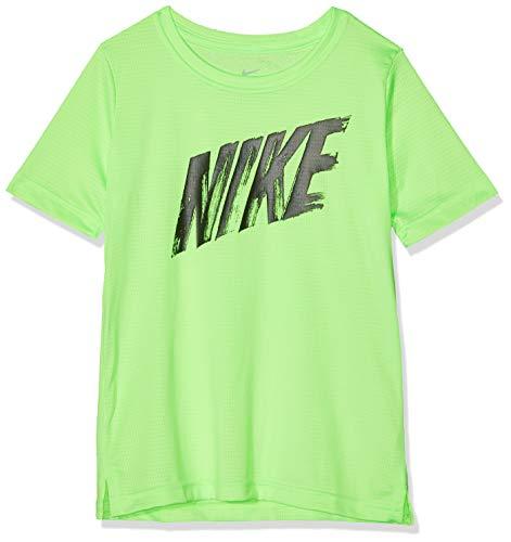 Nike Jungen B NK Dry TOP SS T-Shirt, Lime Blast/Black, XS - Blast Bekleidung