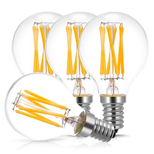 Sshop Glühfaden Glühbirnen, 60 W Glühlampe, Warmweiß 2700 K, 600 lm, nicht dimmbar, LED Vintage Glas Globe Glühbirne, 4 Stück ()