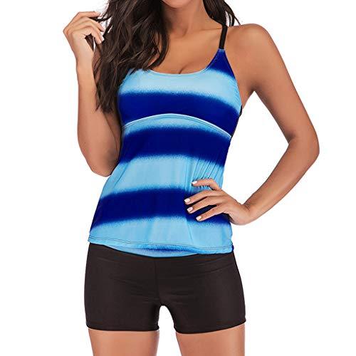 Set Frauen Farbverlauf Zweiteiler Bademode Figurformend Badeanzüge Bikinioberteil Bikinihosen Beachwear ()
