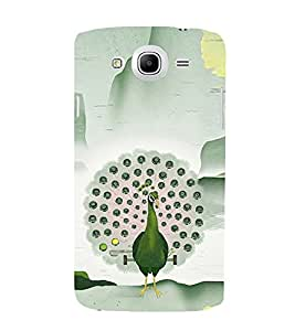 Peacock Clipart Design 3D Hard Polycarbonate Designer Back Case Cover for Samsung Galaxy Mega 5.8 I9150 :: Samsung Galaxy Mega Duos I9152