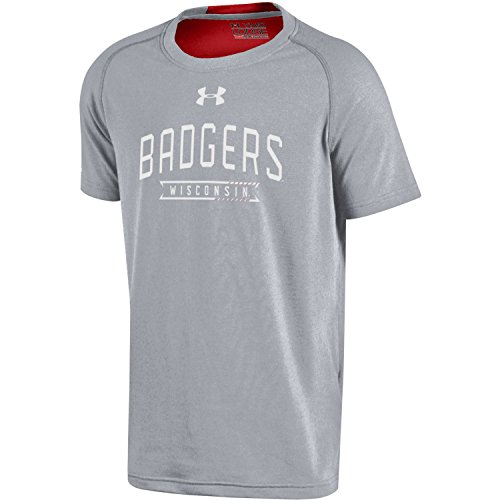 Under Armour teen-boys Jugend NCAA Charged Cotton Short Sleeve Tee, UY7044, grau, xs (Jugend Under Xs Armour)