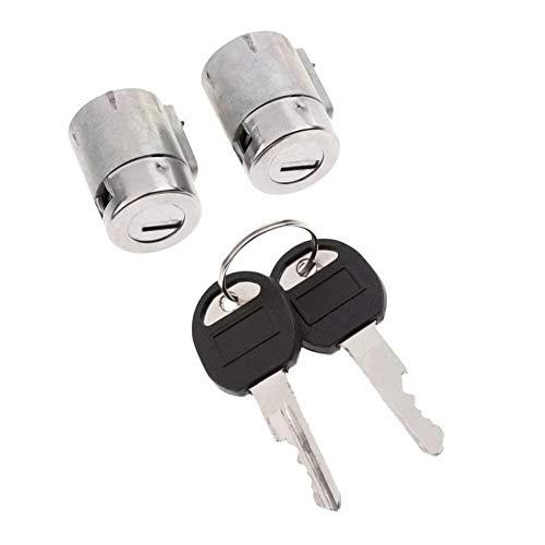 Preisvergleich Produktbild Colinsa Gleichschließend Set, Schließzylinder-Kit Türschließzylinder-Paar mit 2 Schlüsseln / FÜR AUFGEZEICHNETEN Chevrolet u. GMC-LKW U. SUVS