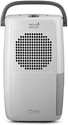 Delonghi Tasciugo AriaDry DX10.WGY - Deshumidificador (habitaciones de 50 m2, función de secado, filtro anti-polvo, sistema dual de drenaje)