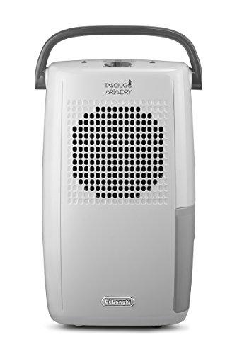 De'Longhi Tasciugo AriaDry DX10.WGY - Deshumidificador (habitaciones de 50 m2, función de secado, filtro anti-polvo, sistema dual de drenaje)