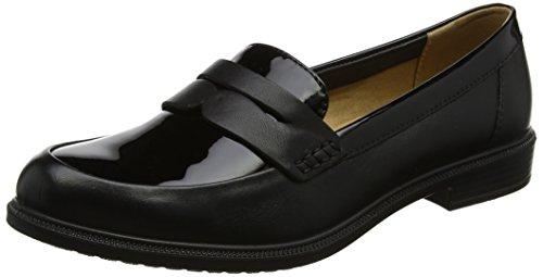 Hotter Women Dorset Loafers, Black (Black-Black Patent), 7 UK 41 EU