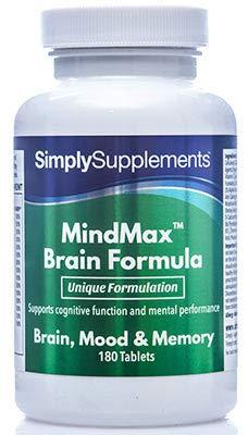 Vitaminas para la Memoria - Con Omega 3 y Ginkgo Biloba - Ayuda a mantener una función cognitiva normal -...