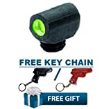 ML-34045 Meprolight Green Tru-Dot® Night Front Sight for use on the Remington 870, 1100 & 11-87 shotguns + KIRO Leather Key Chain