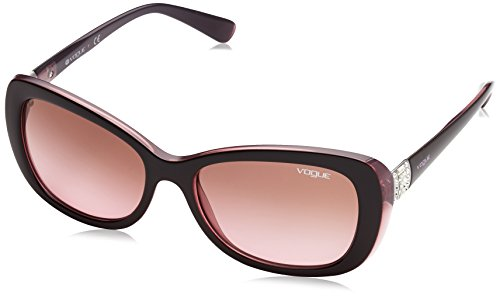 Vogue Eyewear Damen 0VO2943SB 194114 55 Sonnenbrille, Braun (Top Brown/Opal Pink/Pinkgradientbrown)