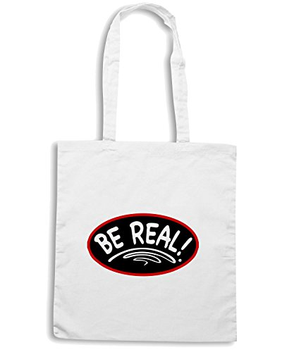 T-Shirtshock - Borsa Shopping OLDENG00212 rbw be real Bianco