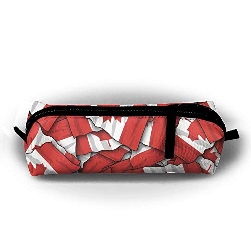 Mäppchen Canada Flag Fashion Student Pen Holder Makeup Bag Zipper Pouch