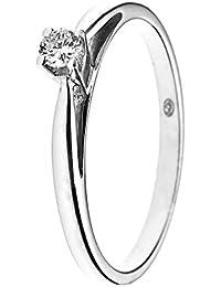 & You Damen -  18-k-(750)  Weißgold Rund   Weiß/Wesselton (H) Diamant
