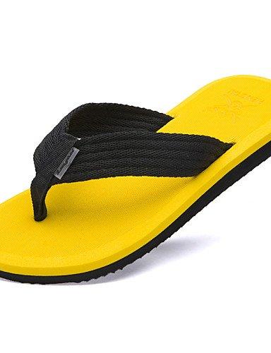 cn43 Gelb Braun us9 Grün Herren Casual eu42 yellow 5 5 Style uk8 Sommer Stoff NTX Flops Outdoor Schwarz Schuhe Strand Flip FA77R4