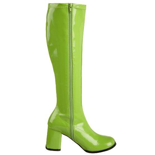 yl Damen Lime Pleaser Gogo300 Pleaser Stiefel Gogo300 Green g1Z4q