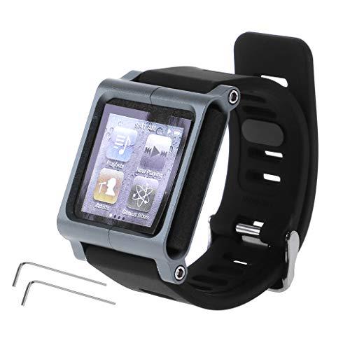 Dabixx Ersatzarmband aus Silikon,Watch Strap für Apple iPod Nano 6 6 - Grau (Ipod Apple Band Watch)