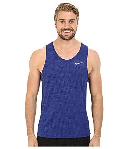Nike Dri-Fit Miler Singlet Débardeur Cool sans manche homme XL Azul (Deep Royal Blue / Obsidian / Reflective Silv)