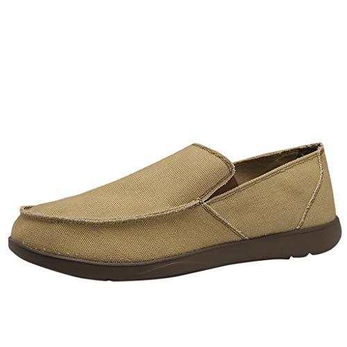 TWISFER Herren Loafer Canvans Slip on Sneakers Boot Deck Classic Low Top Fashion Schlupfschuhe Bequeme Schuhe - Wildleder Deck Shoes
