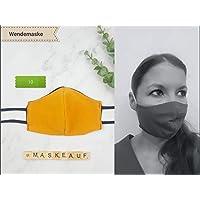 Mund- und Nasenmaske - handgenäht - einfarbig