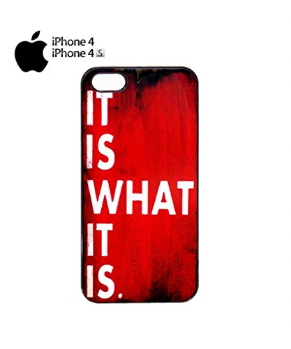 it is What it is Retro Sign Mobile Cell Phone Case Cover iPhone 5c Black Noir