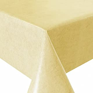 Folded oilcloth, 100x 140cm, yellow wipe-clean tablecloth from alkor