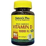 Natures Plus de vitamine D3 1000 UI capsules 180