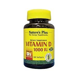 Natures Plus Vitamin D 1000iu - 180 Softgels