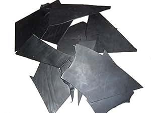 Ritagli di cuoio nero Scampoli di piccolo taglio per creare piccoli oggetti, Peso: 10 kg