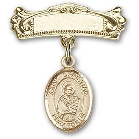 Icecarats Oro Gioielli Di Design Riempito St. Demostene Christian Fascino Pin Distintivo Arco 7/8 X 3/4