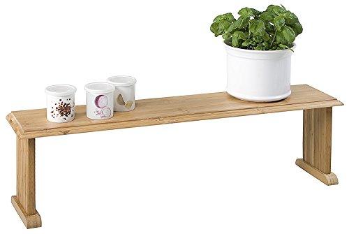 Arbeitsplatte Regal (Kesper Küchenregal, Kräuterregal, Blumenregal, Bambusregal, aus Bambus, Maße: 760 x 750 x 215 mm)