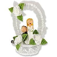 Günth Art Funny poliresina coppia con bordo in tulle (base set) imballato in una scatola decorativa, 380g, confezione da 1