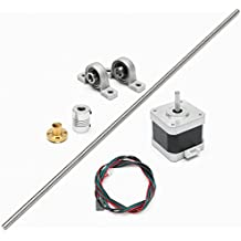 MOHOO Schrittmotor 8mm Edelstahl T8 500mm Edelstahl-Blei-Schraube + Schraubmutter + montiertes Kugellager + Wellenkupplung
