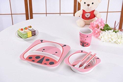 et | Teller-Set | Kleinkind Abendessen Set | 100% umweltfreundlichem Bambus Gerichten | Lebensmittelecht-Set für Kleinkinder und Little Kids | Jungen und Mädchen ()