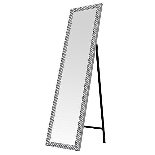 Espejo de pie Plateado de plástico Moderno para Dormitorio DE 37 x 157 cm Arabia - LOLAhome