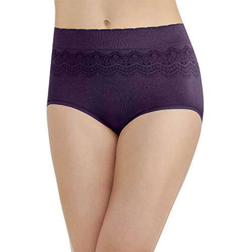 Vanity Fair Damen Pinch-No Show Seamless Brief Panty 13170 Unterhose, Deep Mulberry, Medium - Bikini Hanes Slip