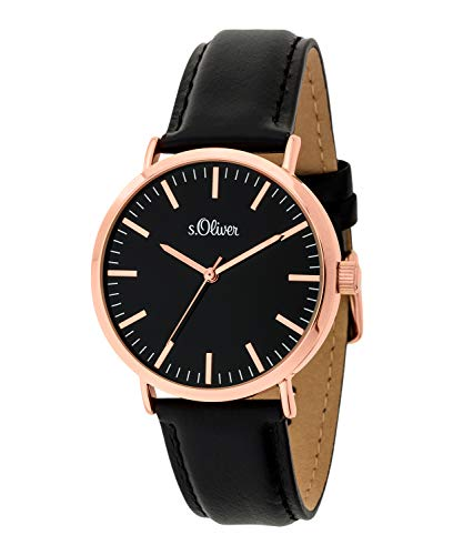 s.Oliver Damen-Armbanduhr Analog Quarz SO-3671-LQ