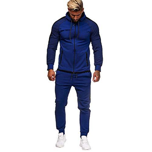 serliyHerren Trainingsanzug Jogginganzug Sportanzug Fitness Jogginganzug Casual Herbst Gradient Zipper Print Sweatshirt Top Hosen Sets Sport Anzug Trainingsanzug