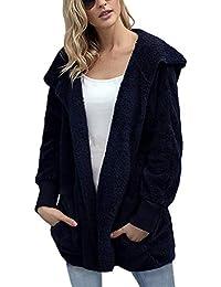 ShallGood Mujeres con Capucha De Abrigo Chaqueta Suéter Abrigo Jersey Mujer Invierno Talla Grande Hoodie Parka