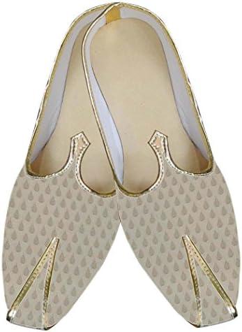 INMONARCH Crema Hombres regio Buscar Zapatos Indio MJ0032